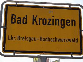 Ortsschild Bad Krozingen